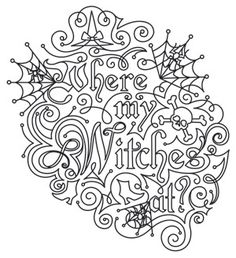 Where My Witches At   Urban Threads: Unique and Awesome Embroidery Designs