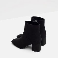 ZARA - COLLECTION SS16 - HIGH HEEL POINTED ANKLE BOOTS