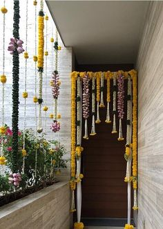 Delightful Floral entrance by Studio Reve Events- Chennai. Door Flower Decoration, Background Decoration, Diwali Decorations At Home, Wedding Stage Decorations, Festival Decorations, Desi Wedding Decor, Wedding Ideas, Home Flower Arrangements, Housewarming Decorations