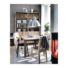IVAR Chair IKEA Solid wood is a hardwearing natural material which can be sanded and surface treated when required. Kitchen Shelving Units, Ikea Paint, Chaise Ikea, Ikea Office, Interior Plants, Cool Furniture, Home Kitchens, Small Spaces, Chairs