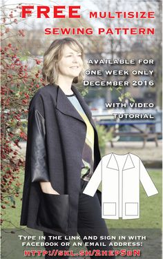 Free, easy sewing pattern for women available in 5 sizes. Comes with video tutorial to talk you through every step of the way! Just sign in with an email address or Facebook.