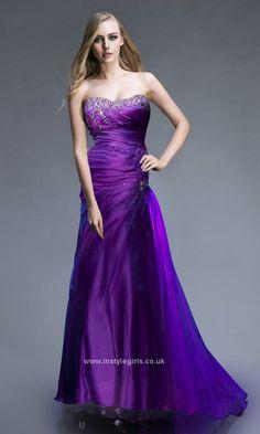 Beaded Strapless Mermaid Prom dress 2013