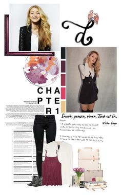 """""""now is the time to begin a new chapter {vh}"""" by elaineeeee ❤ liked on Polyvore featuring Arche, J Brand, Derek Lam, Free People, The Letter, Globe-Trotter, Guerlain, Casetify, Jigsaw and Intelligent Design"""