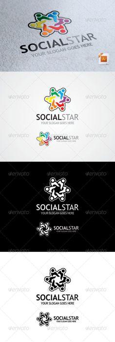 Social Star Logo - Symbols Logo Templates