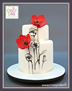 Poppies - Cake by Crazy Cake