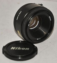 Nikon AF Nikkor 50mm F/1.8 Camera Lens with Nikon AF Fit, Made In Japan