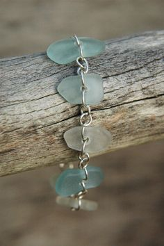 sea glass and silver - so simple and purty!