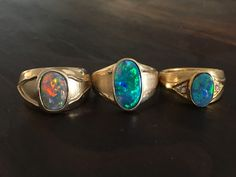 3 opal rings from www.redcarpetopals.com