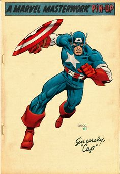 Captain America - Marvel Comics of the Some Vintage Colours for my Zeck Cap sketch! Marvel Comics, Arte Dc Comics, Marvel Comic Universe, Marvel Comic Books, Comic Book Characters, Marvel Characters, Marvel Heroes, Comic Character, Comic Books Art