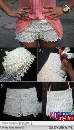 Oh wow I might do that to some of my plain looking skirts too. Love it!!!