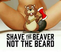 Shave the Beaver Not the Beard.