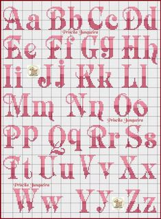 Newest Free Cross Stitch letters Tips ponto cruz nomes Cross Stitch Letter Patterns, Monogram Cross Stitch, Cross Stitch Alphabet, Cross Cross Stitch Letter Patterns, Monogram Cross Stitch, Cross Stitch Baby, Cross Stitch Charts, Cross Stitch Designs, Cross Stitch Font, Cross Stitching, Cross Stitch Embroidery, Hand Embroidery