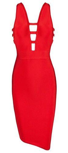 Cora Sexy Red Bandage Dress