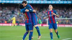 Barcelona 4-1 Villarreal: Messi, Neymar and Suarez score to keep Barca in first