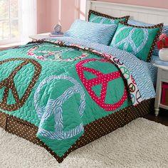 Peace Comforter for the Peace, Love, Gymnastics Room