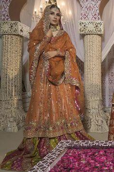 Ansab Jahangir – Women's Clothing Designer. Dulhan Dress, Walima Dress, Shadi Dresses, Mehndi Dress, Muslimah Wedding Dress, Desi Wedding Dresses, Wedding Suits, Fancy Dress Design, Bridal Dress Design