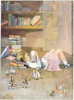 Books And Tea, I Love Books, Reading Art, Girl Reading Book, Children's Book Illustration, Book Illustrations, Book Nerd, Vintage Children, Oeuvre D'art