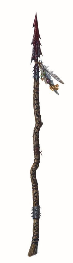 This is an orc-related spear from the 3.5E book Weapons of Legacy which, while filled with really crappy mechanics, oozes with flavour.