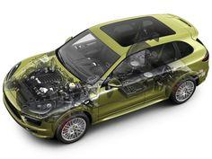 2012-14 Porsche Cayenne GTS (958) - CAD generated