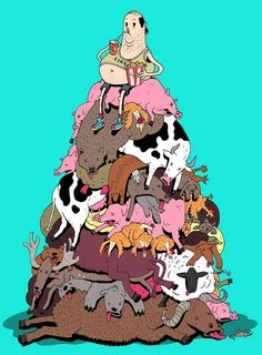 An Artist With An Edge: Meet Steve Cutts - Eluxe Magazine Technology And Society, Satirical Illustrations, Edit My Photo, Vegan Animals, Dog Illustration, Humor Grafico, Environmental Issues, Dog Paintings, Cartoon Pics