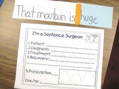 First Grade Wow: Sentence Surgeon