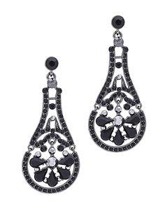 "2.5"" Long Stone Earring - QE0135-JET"