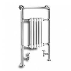 Order this Reina Oxford Chrome Traditional Designer Radiator today from Only Radiators at this great price and receive top Customer Care with Free UK Delivery Traditional Towel Radiator, Traditional Bathroom, Column Radiators, Radiator Valves, Oxford, Designer Radiator, Heated Towel Rail, White Enamel, Chrome Plating