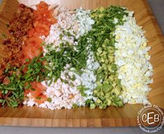 Disney's Brown Derby Cobb Salad - brought home the recipe for this & I've made it for years! (No chicory) My family loves the flavor & texture (lots of knife cuts, but worth the effort.)