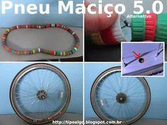 Foto: Pneu Maciço Alternativo versão 5.0 - Ideia de pneu de bicicleta sem câmara…
