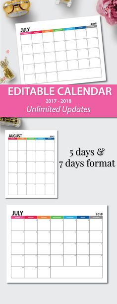 10 best Editable Calendar and news letters images on Pinterest in