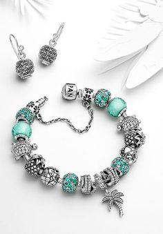 Paradise themed Pandora bracelet #silvermoonstyle