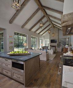 Farmhouse Kitchen Island, Modern Farmhouse Kitchens, Rustic Kitchen, Kitchen Decor, Kitchen Ideas, Kitchen Interior, Rustic Farmhouse, Western Kitchen, Kitchen Upgrades