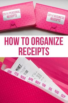 How to Organize Receipts! Great DIY for both meal planning and budget organization. Receipt Organization, Organizing Paperwork, Home Office Organization, Business Organization, Paper Organization, Organize Receipts, Organization Skills, Organizing Tips, Financial Organization