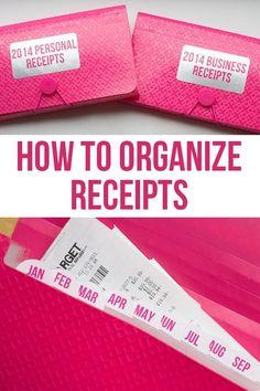 Como organizar recibos.