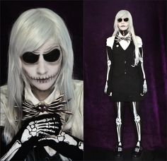 inspiration halloween theglambitioncom tim burtons jack skellington costume creepy - Halloween Jack Costume