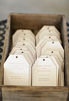 Wildflower seeds for the guests! Photo: Courtney Bowlden Photography