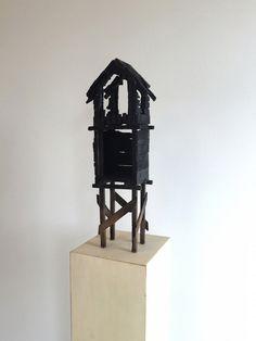 Roald Andersen d.y.: What Remains (2), 2015, 47 x 12 x 15 cm, burnt wood, wax, wooden piedestal.