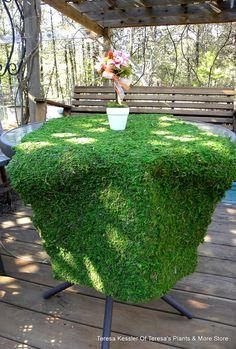 Moss table runner-Moss mats-Preserved Moss by teresab123 on Etsy