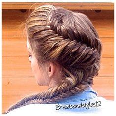 hairinspiration elsabraid braid frenchbraid fishtailbraid fishtail blonde fashion