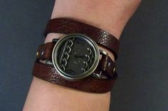 Wrap Around Watch Brown Leather Watch Womens by 4MLeatherDesign, $58.00