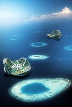 The 'Lilypad' floating city, a concept by the Belgian architect Vincent Callebaut From BBC Sea levels are rising so fast that the tiny P. Floating Architecture, Green Architecture, Futuristic Architecture, Amazing Architecture, Landscape Architecture, Baroque Architecture, Chinese Architecture, Architecture Design, Futuristic City