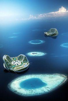 Lilypad, a prototype of auto-sufficient amphibious city [Futuristic Islands: http://futuristicnews.com/tag/island/]