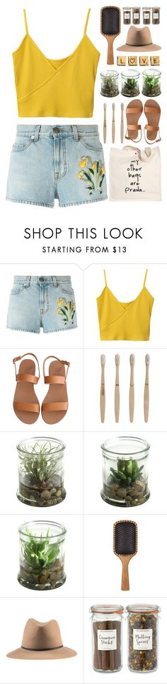 """""""Love"""" by annaclaraalvez ❤ liked on Polyvore featuring Gucci, Ancient Greek Sandals, Prada, ferm LIVING, Alöe, Aveda and Williams-Sonoma"""