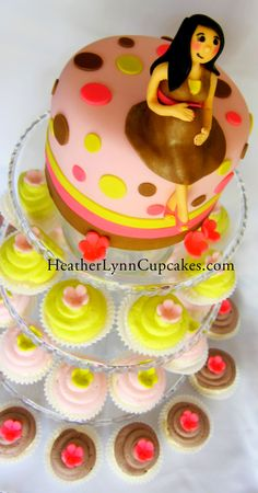 Baby Shower Cake and Cupcakes