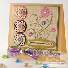 Stamping on [cross-stitch] linen with StaZon and Brilliance inks. JustRite stamps -Becca Feekins - Amazing Paper Grace