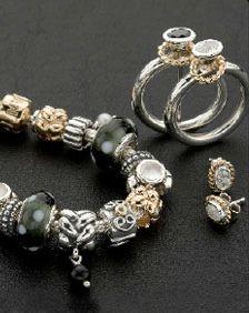 I Want My Bracelet Like This Silver Black Hints Of Gold Pandorapandora Beadspandora