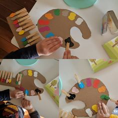 No automatic alt text available. Preschool Themes, Classroom Themes, Learn Arabic Online, Learn Arabic Alphabet, Learning Arabic, Color Activities, Color Themes, Paint Colors, Palette