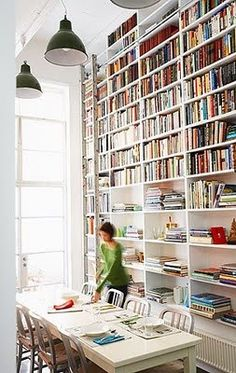 How very practical and how like a bookreader to think of it...I cant look at a windowless wall and not think 'how many bookcase can I fit there'...