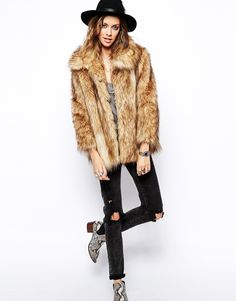 Asos Vintage Faux Fur Coat...Obsessed and need to find one in a local thrift store now!!!!
