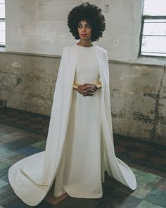 Solange Knowles looking gorgeous in white
